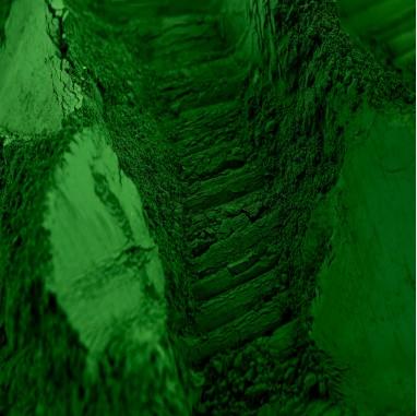 Vert Malachite: Pigment exclusif pour béton et chaux