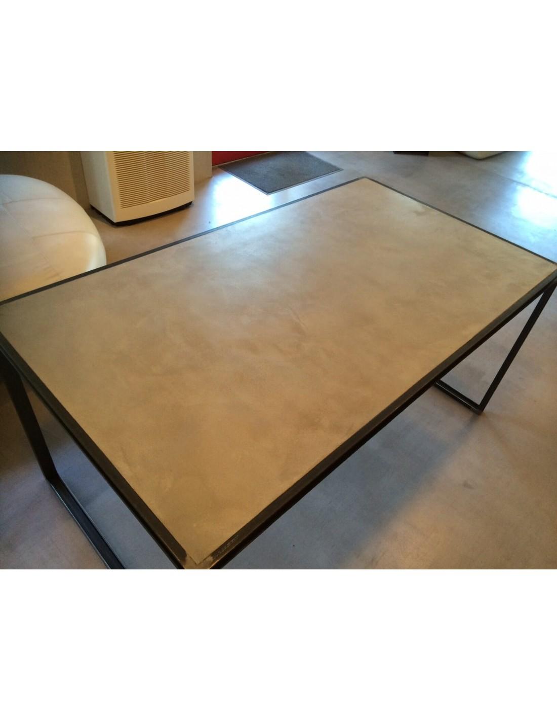 Table beton cire exterieur zoom bton cir sol grand - Table beton cire exterieur ...